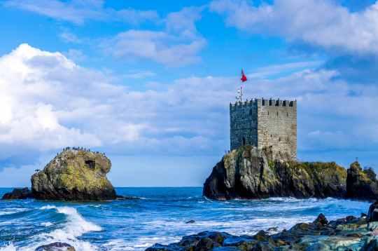 architecture beach blue castle