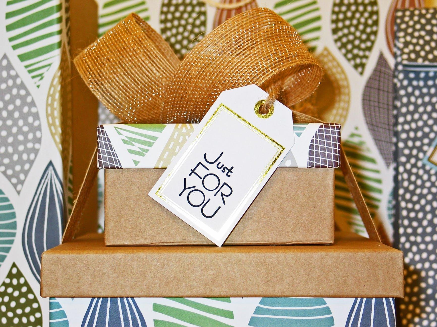 birthday bow box card