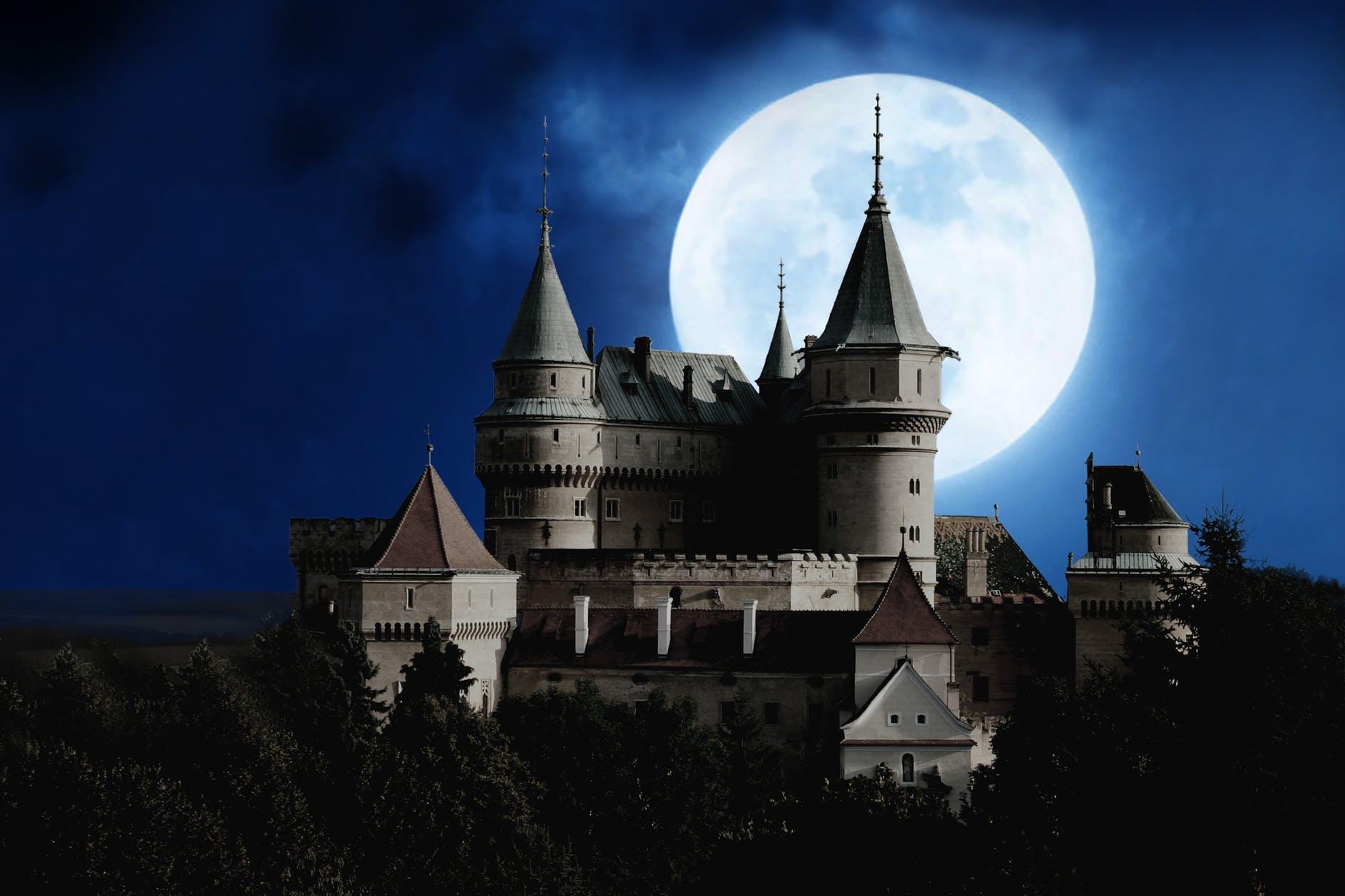 architecture building castle clouds