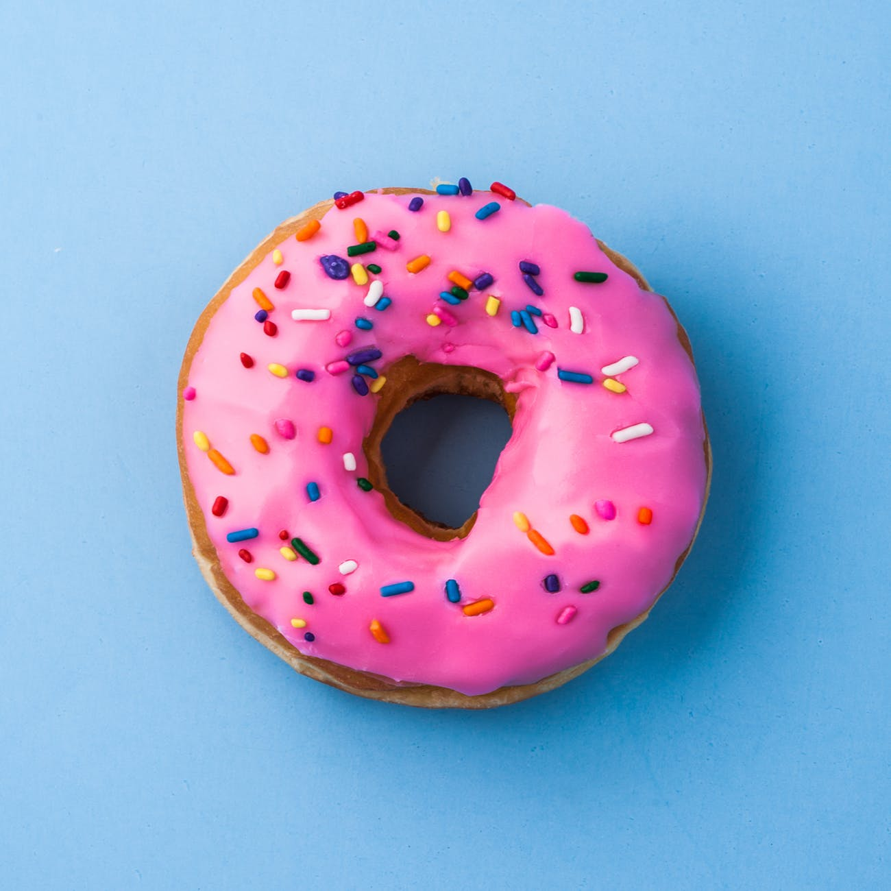 photography of pink doughnut