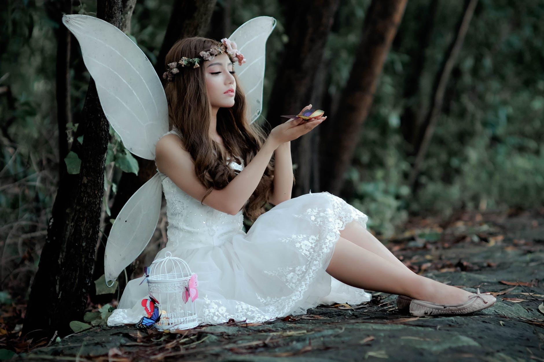 woman wearing fairy costume