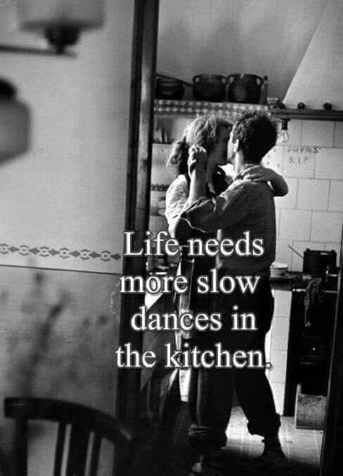 slow dance in kitchen