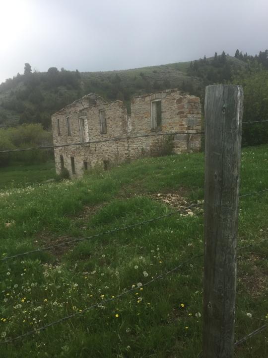 post & brick remains