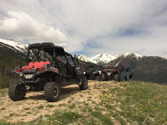 ATV at mtn top