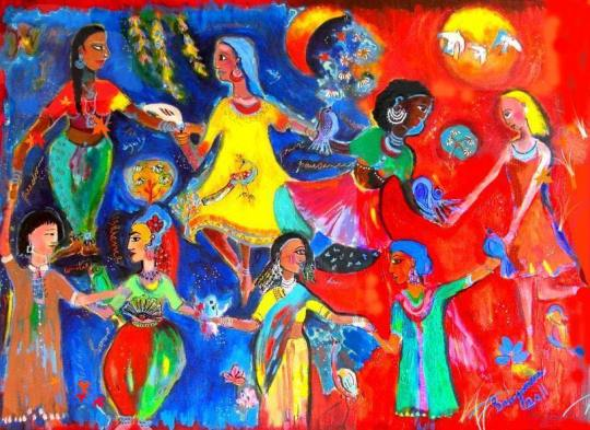 colorful dancers