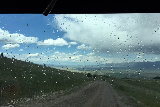 rain on windshield -ATV