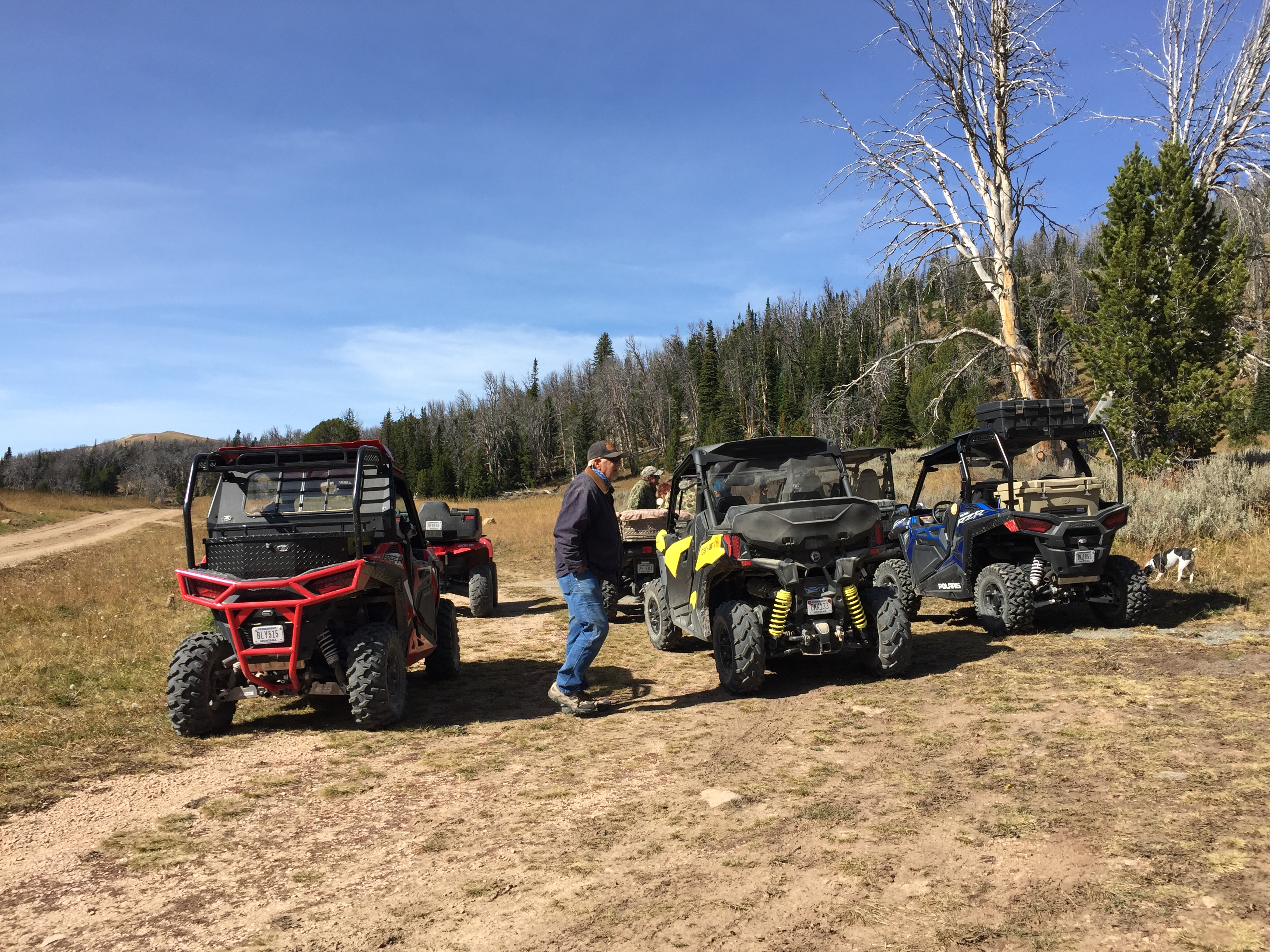 ATVs @ bathroom stop