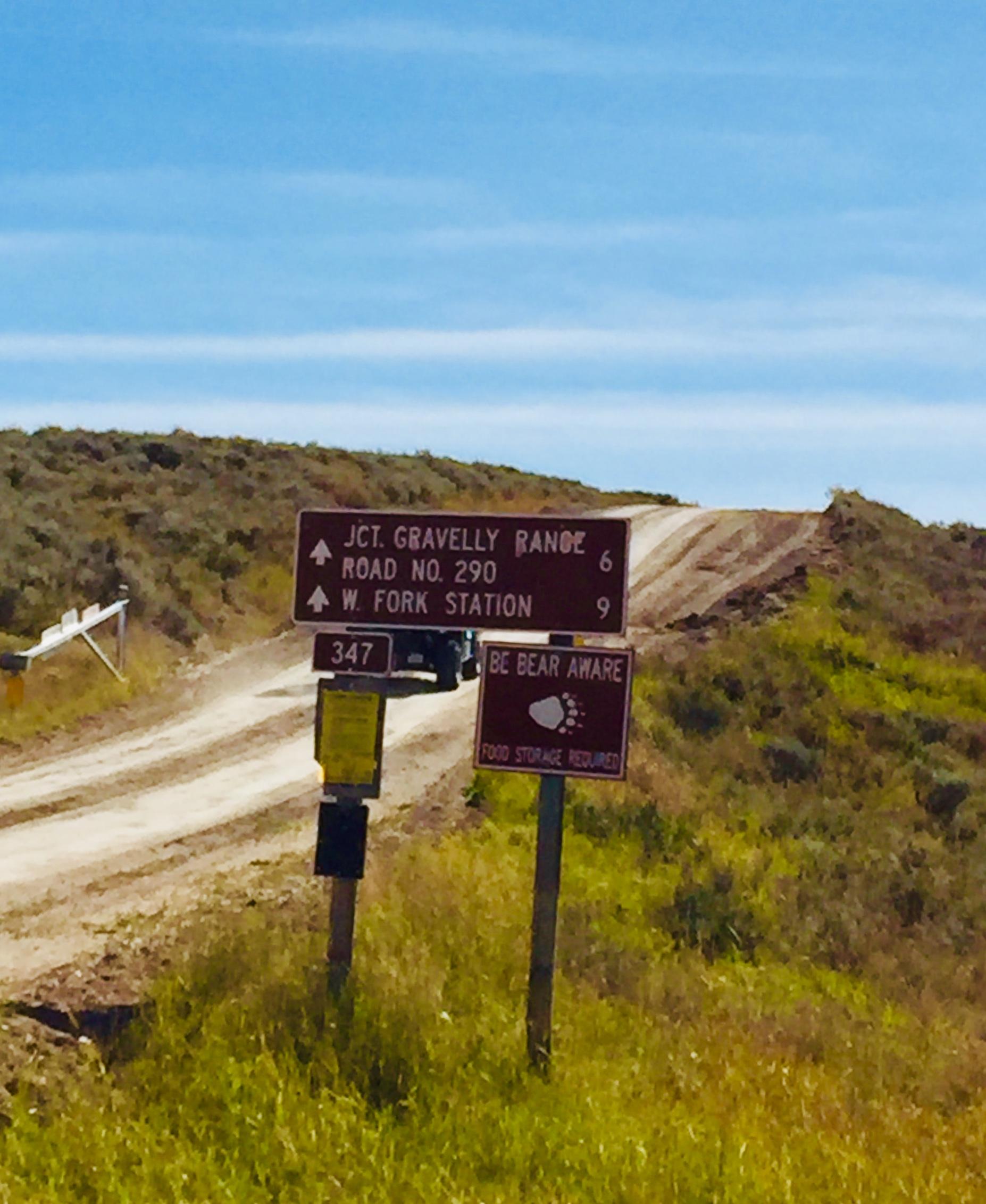 Sign- Gravelly Range